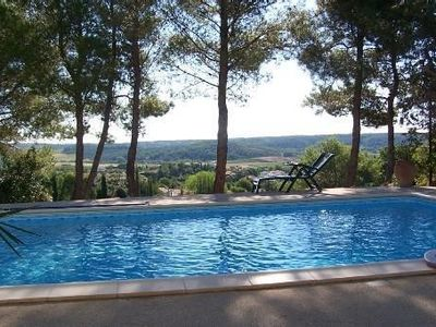 Photo for Independent apartment in Languedoc villa with panoramic views