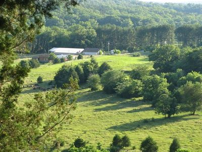 Pastoral View from the Bluff Above Camp