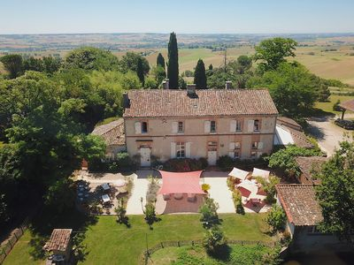 Photo for Charming luxury Manoir on large domaine with pool, each room w/ bath/wc
