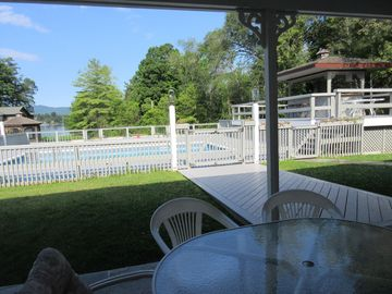 Lake George Estate for 1-35 guests: Pool, Tennis, Family Reunions, Sunset Views