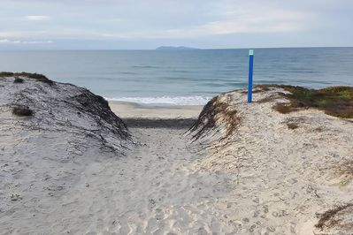 One of the many beach accesses at Bowentown, Waihi Beach