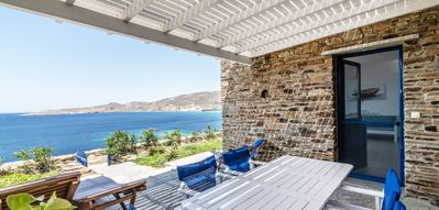 Photo for Seaside villa next to the beach // Stavros Bay