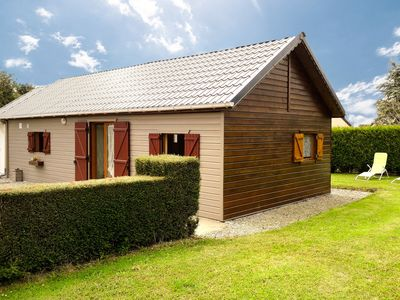 Photo for Detached chalet with garden just 5 km from Barneville-Carteret