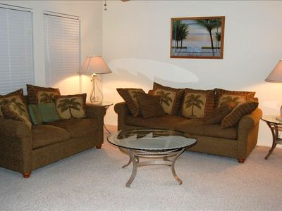 Living Area - Henderson Park Condominiums in Destin, FL (Crystal Beach Area)