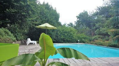 Photo for B & B in charming villa with pool, near downtown