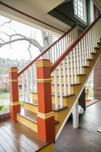 Private Stairwell entrance up to Johnson Retreat at the front of the Bear House.