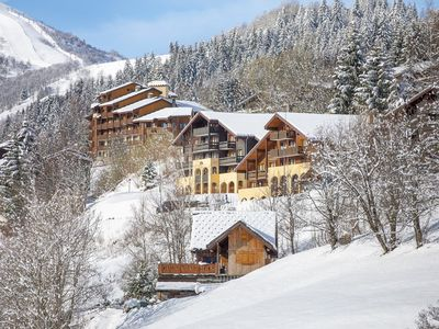 Photo for Panoramic view quiet and close to the resort center 50m from the chairlift to Valmorel