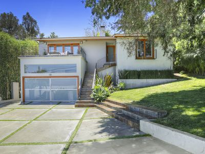 Photo for Cool Mid-Century Hollywood Hills Retreat (upper unit)*view /pool