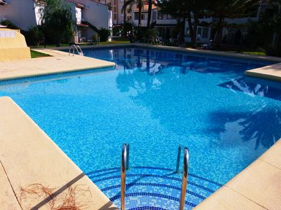 "Photo for APARTMENT ""HOLIDAY PARK"" WITH TERRACE, SWIMMING POOL AND BEACH AT 100 METERS"