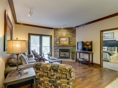 Photo for Downtown condo w/ jetted tub, fireplace & shared pool/hot tub/fitness room!