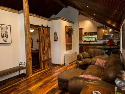 Photo for Gorgeous Newly Remodeled Log Cabin at Tiny Timbers Resort!