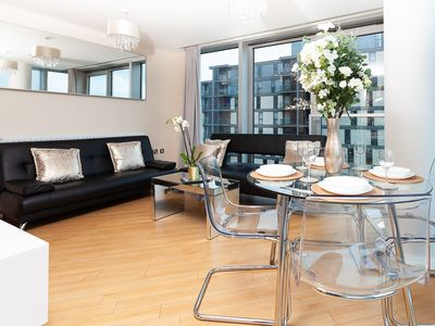 Photo for Two Bedroom Apartment with Free Parking at the Hub in Central Milton Keynes