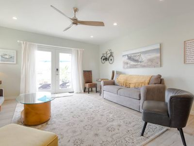 Photo for Harbor view with a glass of wine⛱  2 kayaks for your paddling pleasure ⛱  Crisp, modern bungalow