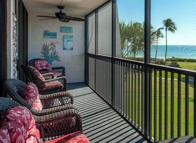 Screened In Lanai With Gulf Views