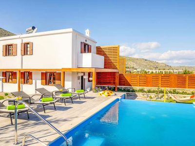 Photo for 2 bedroom Villa, sleeps 4 in Lindos with Pool, Air Con and WiFi