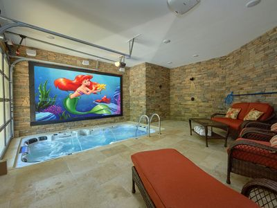 Photo for Incredible indoor pool cabin with outdoor fire pit and putt-putt golf course!