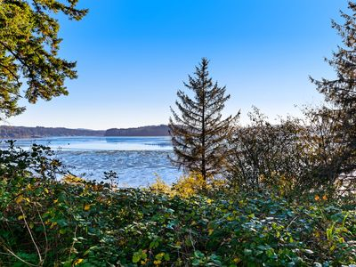 Photo for Relaxing home w/ a bay view & large, grassy yard - close to the water!