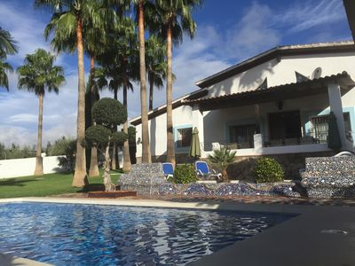 Photo for Stunning, private villa with beautiful pool, gardens & views