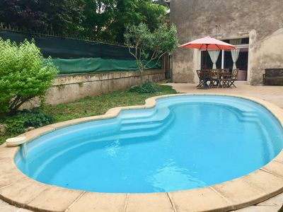 Photo for Languedoc-style rural gîte with garden and shared swimming pool