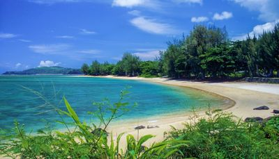 Gorgeous view of Anini Beach below!