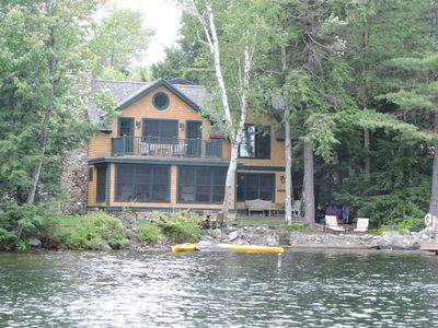 Photo for Lake Sunapee  Water Front Luxury Timber Home, Minutes To Mnt Sunapee, Sleeps 11