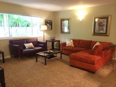 Living Room with Double Pull down Sofa