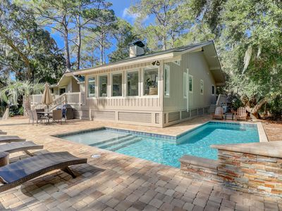 Photo for Completely Renovated BEAUTIFUL Dog Friendly Sea Pines Home w/ a Private Pool!
