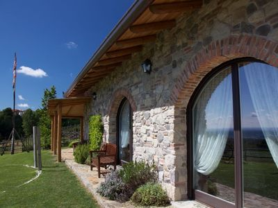 Photo for Exclusive estate: Villa in the countryside with land in the Biella hills