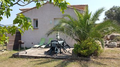 Photo for Quiet studio in an authentic hamlet of Figari, air-conditioned, separate bedroom