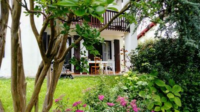 Photo for Hendaye beach of 2 twins 4/6 pers with garden 300m from the beach