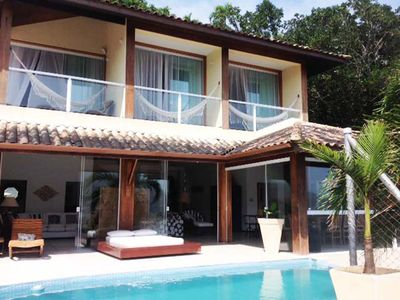 Photo for Two floors with Paradisiacal Sea view, a few meters from Praia Grande