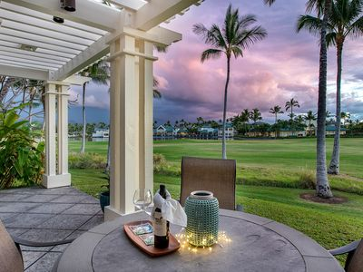 Photo for Luxurious 2-Story End Unit Sunset-facing Villa on Golf Course