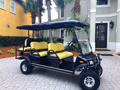 Photo for Inquire about fall specials! options to fit your needs Street legal golf cart!