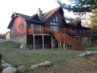 Photo for LUXURY LOG CABIN- SACANDAGA LAKE! GREAT 4 LARGE FAMILY OR TWO FAMILIES TO SHARE