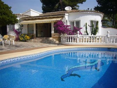 Photo for Large villa with pool and sea view - near Moraira / Costa Blanca