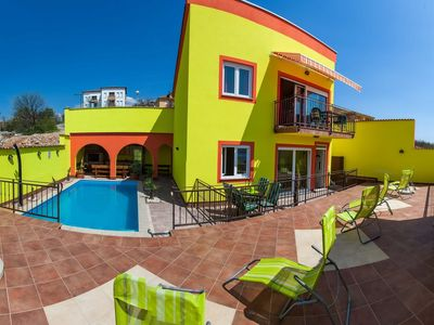 Photo for Holiday apartment with pool on the ground floor