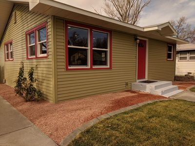 Photo for Peach House: Beautiful Downtown 3 Bedrm /1.5 Bath, Patio,Fenced Yard, Pets Welcm