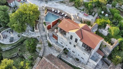 Photo for CHARMING STONE MEDIEVAL VILLA WITH  INFINITY POOL OVERLOOKING THE SEA