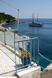 Photo for Kelly's Beach House! Nestled In The Cliffs Of Agia Marina Coastline!