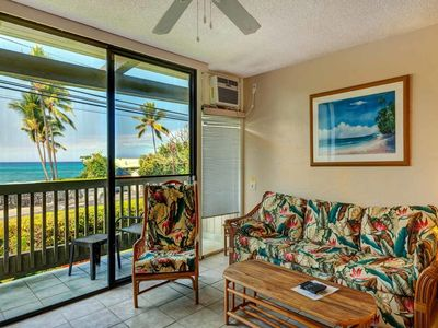 Photo for Tropical Tone+Updates! Lanai w/Ocean Vista, WiFi, Kitchen, AC–Kona Bali Kai 167