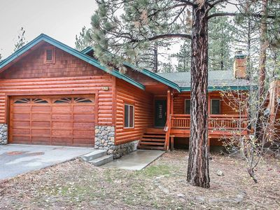 Photo for ~Timber Wolf Den~Upscale Log Cabin~Hot TUb~Amazing BBQ Deck~Custom Furnishings~
