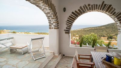 Photo for Your Homeaway Home! Stunning Views Traditional Cycladic House for 6