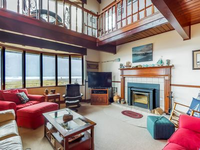Photo for Waterfront home w/ ocean views, hot tub & fireplace - dogs welcome!