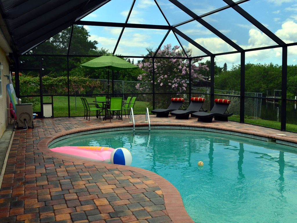 vacation home with pool on salt water homeaway port charlotte