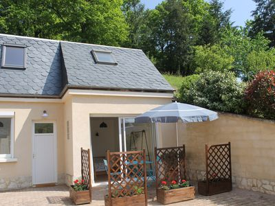 Photo for Najac cottage for 2 with beautiful views of the forest, 5 minutes walk from the city center.