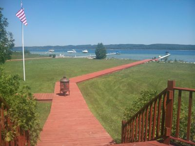 Terrific Family Getaway on Lake Charleviox with Stunning Views