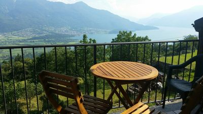 Photo for BEAUTIFUL VIEW ON THE LAKE COMO AND LOW VALTELLINA