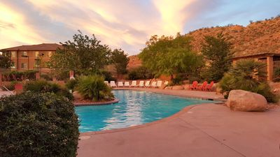 Photo for POOLs OPEN-Suite in Premier Condo Resort Garage Parking, Pools/ Hot Tubs, Fitness & Tennis