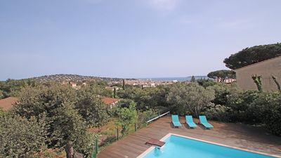 Photo for Appt T4 -Ste-Maxime - Sea view -Pool -Wifi