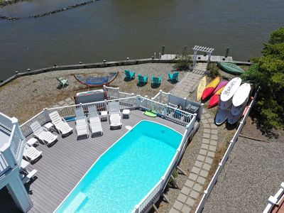 Photo for Pool, Hot Tub, Paddle Boards, Canoes, Kayaks -Everything for Friends and Family